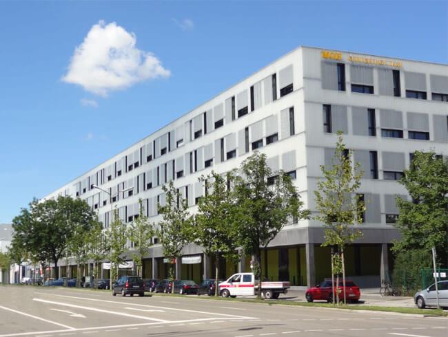 Hauptsitz der Firma Biontex Laboratories GmbH im Münchner Gewerbehof-Laim