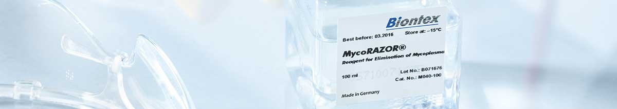 Mycoplasma elimination reagent MycoRAZOR® from Biontex